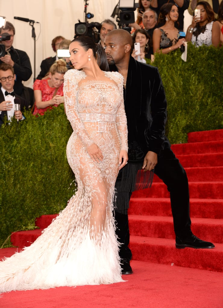 Kim Kardashian\'s Roberto Cavalli Dress at Met Gala 2015 | POPSUGAR ...