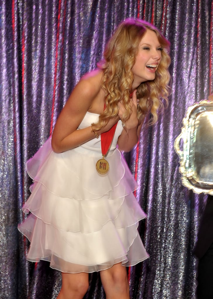 Taylor Swift received an award for her songwriting in May 2009.