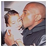 "Kim Kardashian gave a sweet shout-out to her husband, Kanye West, writing, ""I'm so lucky to be married to a man who is so in love with his daughter, your bond is so irreplaceable! Thank you for being such a good dad! We love and appreciate you so much! We're so blessed to have you!"""