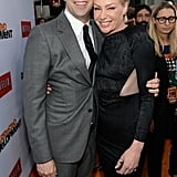 Tony Hale and Portia de Rossi had a moment on the orange carpet.