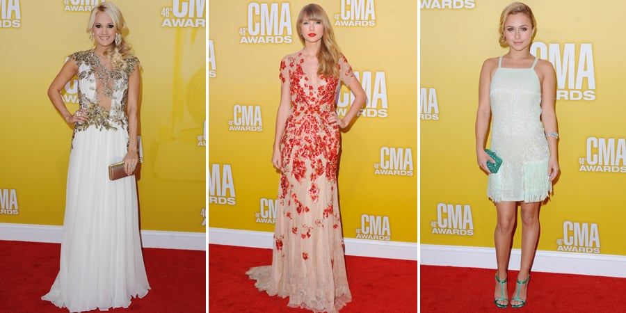 Taylor Swift Carrie Underwood CMA Awards Red Carpet Pictures