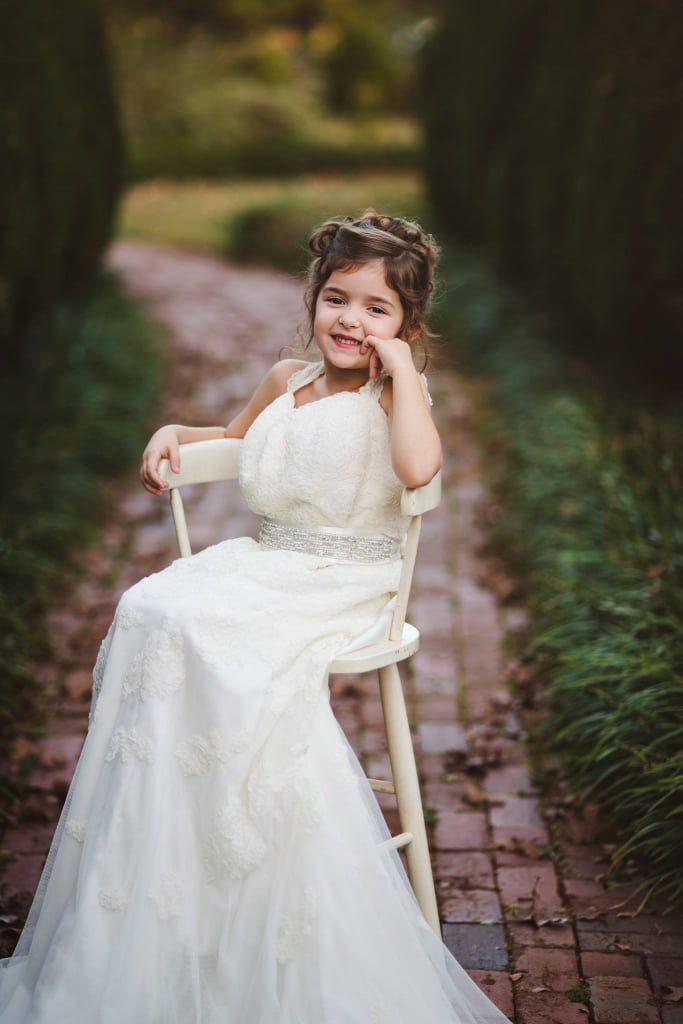 Toddler Wears Late Mom\'s Wedding Dress | POPSUGAR Family Photo 4