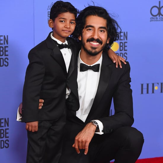 Dev Patel and Sunny Pawar at the 2017 Golden Globes