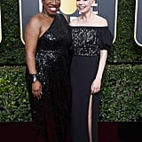Activist Tarana Burke and Michelle Williams