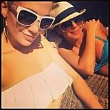 Jennifer Lopez and Leah Remini had fun in their bikinis. Source: Instagram user jlo
