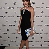 Christa B. Allen wore a black dress to InStyle's Summer party.