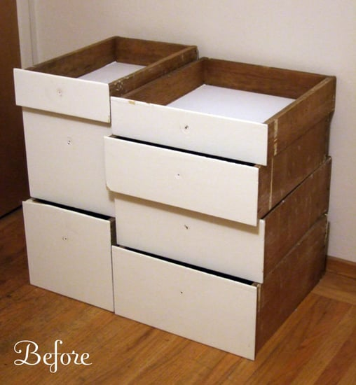 Before and After: Salvaged Shelves Get an Upgrade