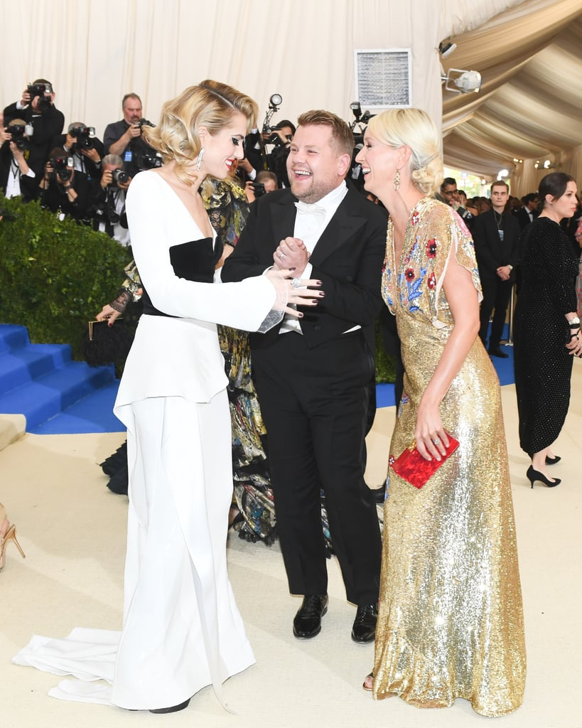 Pictured: Allison Williams, James Corden, Julia Carey