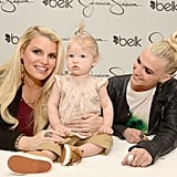 Jessica Simpson brought her daughter, Maxwell, to a fashion event in Charlotte, NC, in March 2013.
