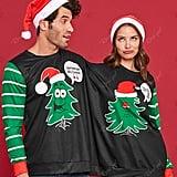 Two-Person Christmas Tree Sweatshirt