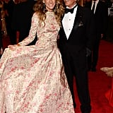 Sarah Jessica Parker and Valentino Garavani posed together for a photo.