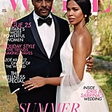 Sabrina Dhowre and Idris Elba on the Cover of British Vogue