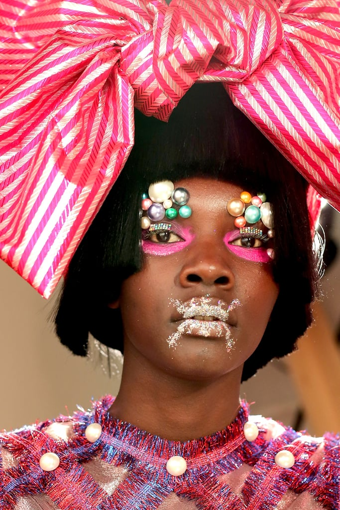 Embellished Eyes at Laurence & Chico NYFW Spring 2018