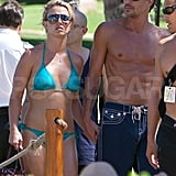 Britney showed off her amazing figure in a bikini while in Hawaii in August 2010 with Jason.