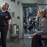 """Fuller is the first person to admit that her character is """"an awful person,"""" but she wants viewers to give Badison another chance. We know it's pretty difficult to renege judgements on someone who literally breaks another inmate's nose for entertainment, but Fuller wants us to consider the circumstances and understand that Badison herself is struggling. """"It's hard for me because everyone wants to be liked, including Badison, and even though I don't think she's making the right choices in her life, I have a connection with her,"""" she said. """"When people attack her, it's hard for me not to be defensive. I want to be like, 'Yeah, I get it. I know she's a bully, and she sucks in that way,' but also, it's because she needs friends. She's alone and she's scared, and that's human to me."""" In fact, Fuller thinks that one of the biggest problems is people attacking Badison for her hurtful actions, creating a vicious cycle of hatred. """"Maybe don't hate her so much. Maybe the point is to learn that being hateful doesn't help. Maybe we could try to understand these kinds of characters,"""" she said. """"It's good to react to them and have a strong opinion, but compassion is also key in life. Maybe if Badison were more understood, she wouldn't be so awful. It's hard for me not to be defensive. But, I also totally get hating on her."""" For Fuller's own real-life struggles with insecurities, she had to understand that the """"roar of hatred"""" following Badison's debut was """"the point of the character.""""      Related:                                                                                                           7 Orange Is the New Black Theories That We're Convinced Will Come True"""