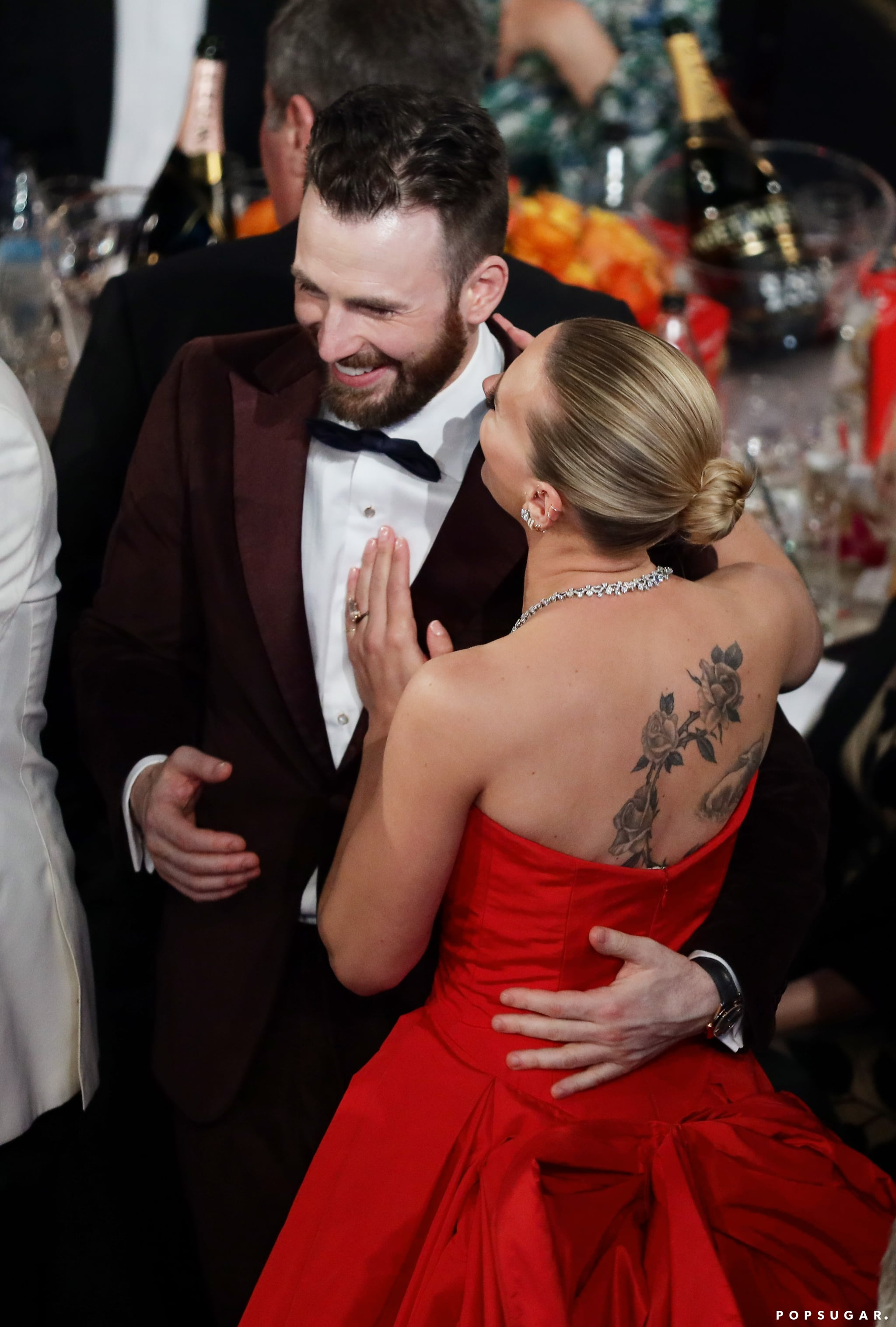 Chris Evans And Scarlett Johansson At The 2020 Golden Globes We Guarantee You Didn T Catch These Moments At The 2020 Golden Globe Awards Popsugar Celebrity Photo 97