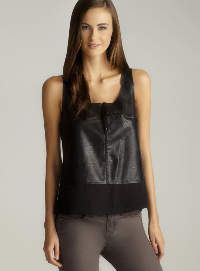 Swap out your simplest tank tops with Love Stitch's boxy faux-leather variety ($32, originally $78) to really up the ante.