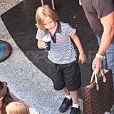 Shiloh Jolie-Pitt leaving bowling alley in Malta.