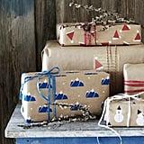 Vinter 2019 Beige Patterned Gift Wrap Rolls