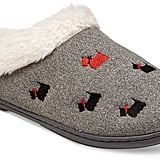 Charter Club Faux-Fur Scottie Dog Slippers ($30)