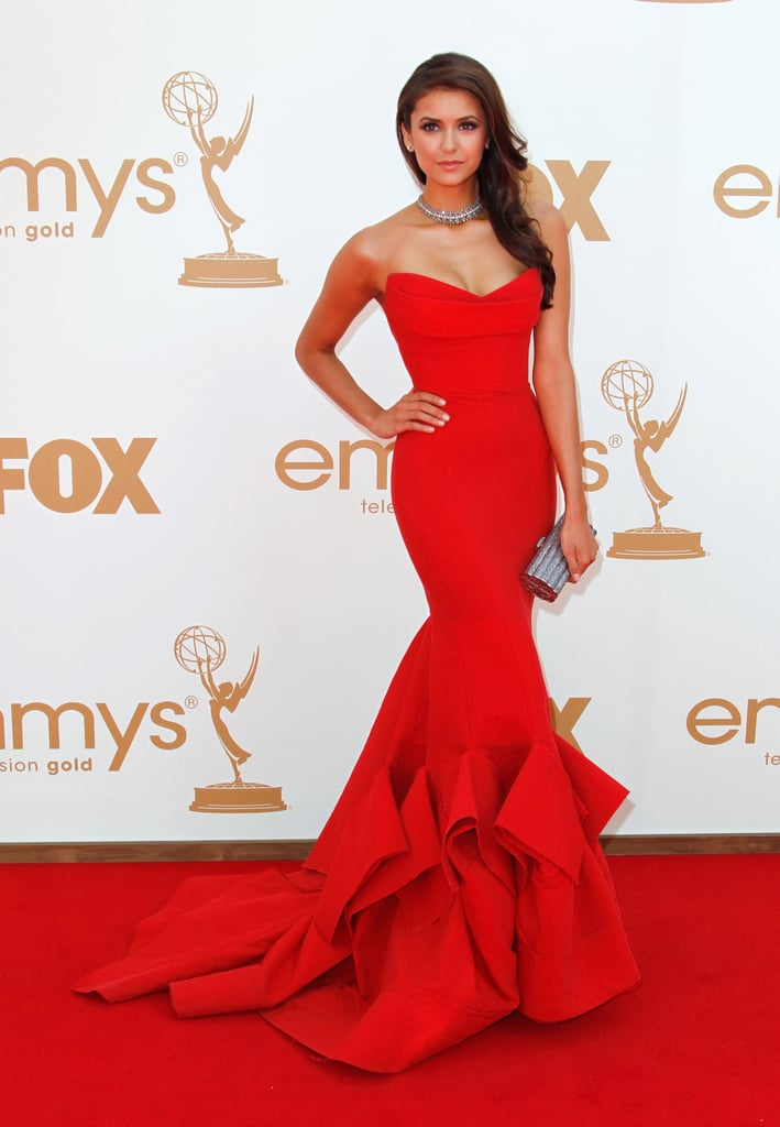 71bc2dacd1e Nina Dobrev reminded us of a young Cindy Crawford in this sensational Donna  Karan gown.