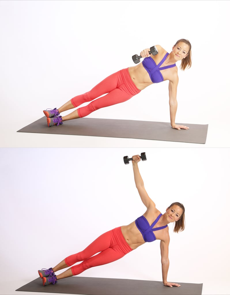 Circuit One: Side Plank With Reverse Fly