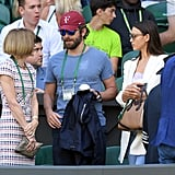 Bradley Cooper and Irina Shayk at Wimbledon 2016