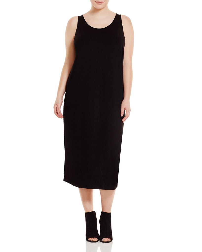 Eileen Fisher Plus System Scoop Neck Maxi Dress
