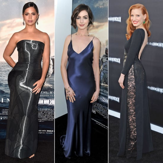 Anne Hathaway Interstellar Premiere Dress