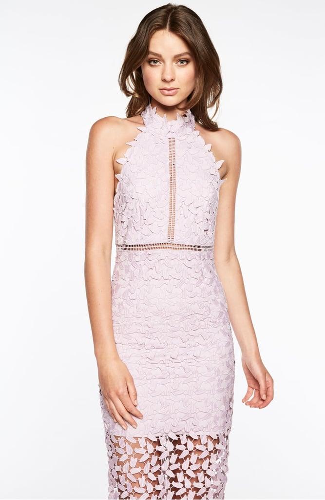 7a4bbf2a Bardot Gemma Halter Lace Sheath Dress | Summer Dresses 2018 ...