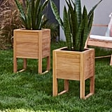 MoDRN Elevated Teak Planter