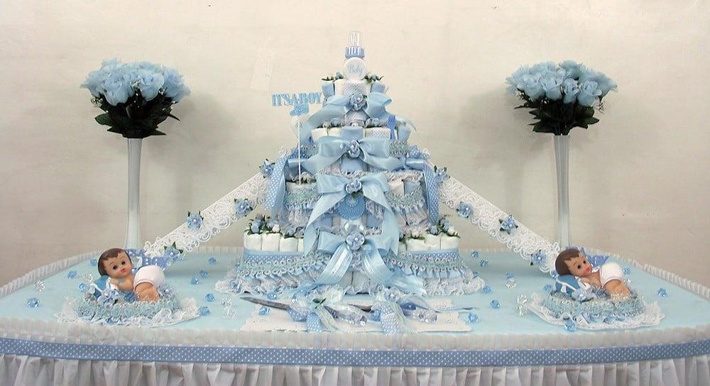 Diaper Half-Sheet Cake