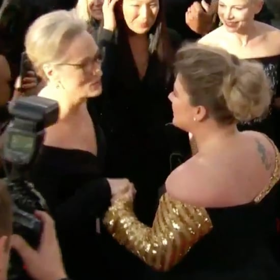 Kelly Clarkson Meeting Meryl Streep at 2018 Golden Globes