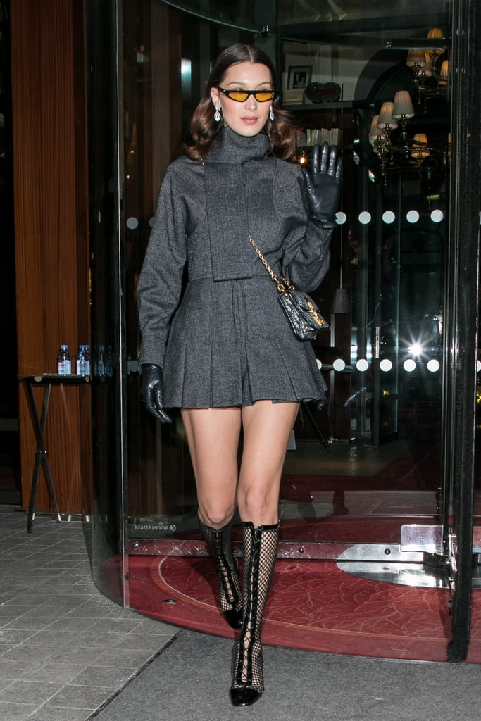 8b5e7804c4 Bella Hadid s Dior Lace-Up Black Boots