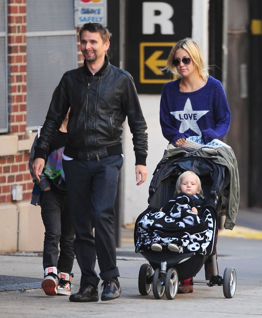 Kate Hudson and Matthew Bellamy took a stroll in the Tribeca neighborhood of NYC.