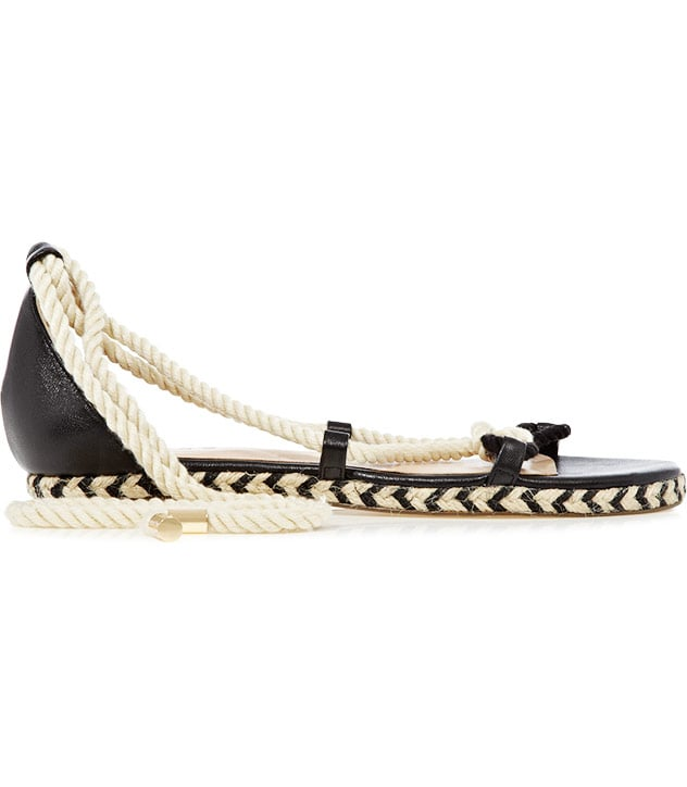 These flats have a modern, sexy twist.  Reiss Domenica Flat Espadrille Sandals ($180)