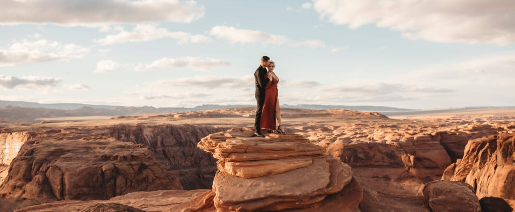 A Couple's Sexy Canyon Photo Shoot