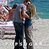 Dax and Kristen stopped on the beach in Miami to make out in January 2008.
