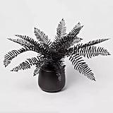"Shop Target's 28"" x 16"" Artificial Black Fern Arrangement in Ceramic Pot Black"