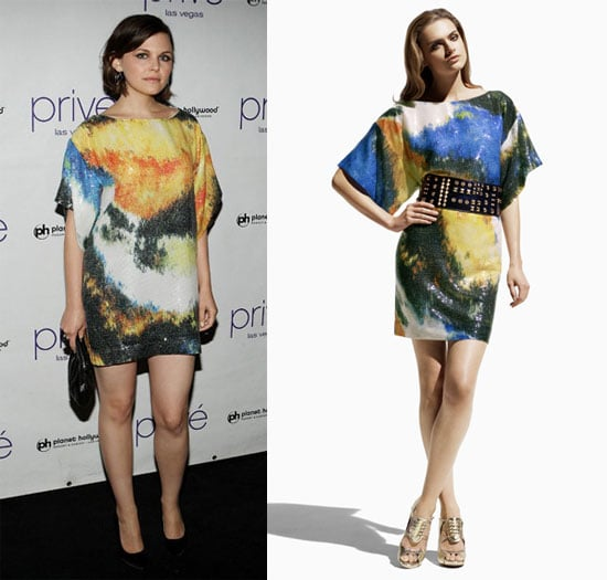 Ginnifer Goodwin Parties in Las Vegas in an Artsy Matthew Williamson For H&M Dress