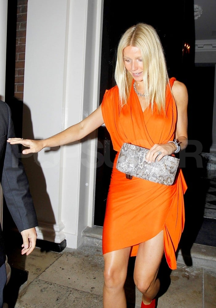 Gwyneth Paltrow leaves dinner.