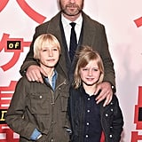 Liev Schreiber With His Sons at Isle of Dogs Premiere