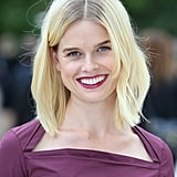 Alice Eve went to Burberry.