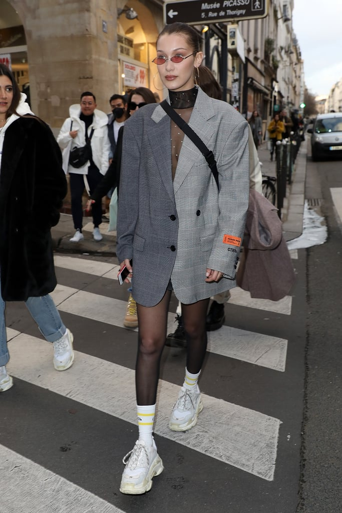 Bella Hadid Heron Preston Blazer Dress Paris