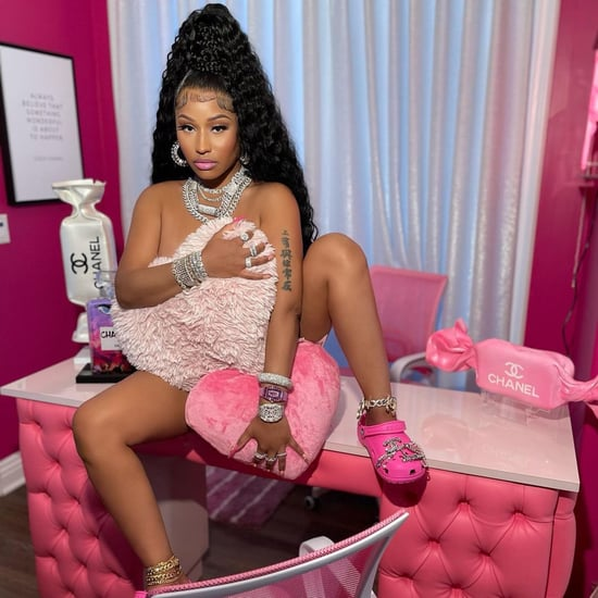 Nicki Minaj Wears Hot Pink Crocs With Chanel Charms