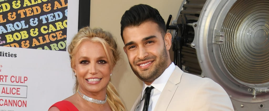 See Britney Spears's Red French Manicure in Engagement Post