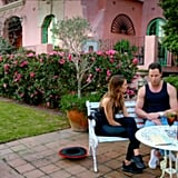 For their first date, Sasha and Sam went to a beautiful Spanish-style villa where they got talking about personal things . . .