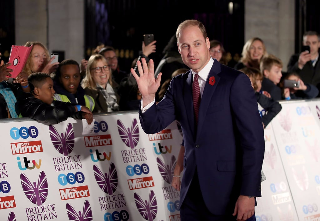 Prince William at The Pride of Britain Awards 2017