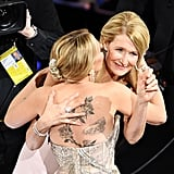 Scarlett Johansson and Laura Dern at the 2020 Oscars