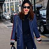 Priyanka Chopra's Fendi Denim Blazer February 2019
